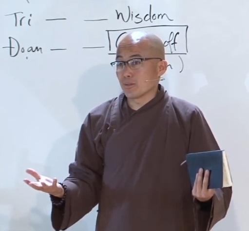 Thay Phap Dung beim Vortrag am 29. Juli 2018